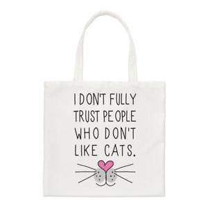 【送料無料】トートバッグショルダーi dont fully trust people who dont like cats small tote bag shoulder
