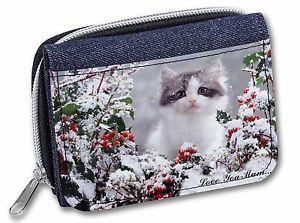 【送料無料】猫 ネコ キャット バッグ 小物 #;#レディースデニムpretty kitten 039;love you mum039; girlsladies denim purse wallet christm, ac72lymjw