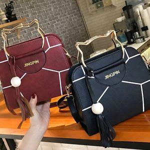 【送料無料】パッチワークハンドルショルダーバッグバッグハンドバッグ listingexquisite patchwork cat ear handlebar shoulder bag crossbody bag handbag nq