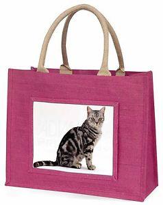【送料無料】ピンクショッピングバッグクリスマスプレゼントアイデアpretty tabby cat large pink shopping bag christmas present idea, ac157blp