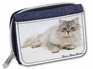 【送料無料】猫 ネコ キャット バッグ 小物 チンチラペルシャ#;#レディースデニムchinchilla persian cat 039;love you mum039; girlsladies denim purse wall, ac122lymjw
