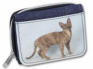 【送料無料】猫 ネコ キャット バッグ 小物 コーンウォールイエネコデニムクリスマスac39jwcornish rex cat girlsladies denim purse wallet christmas gift idea, ac39jw