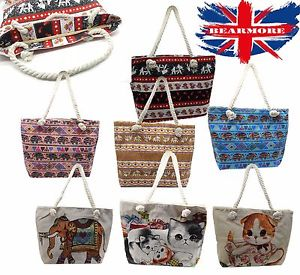 【送料無料】ロープハンドルバッグアニマルプリントレディースショッピングバッグリュックサックバッグハンドバッグ