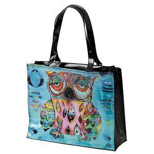 【送料無料】アランデザインズフクロウd129フクロウビニルバッグallen designs cat and owl d129 owl vinyl bag