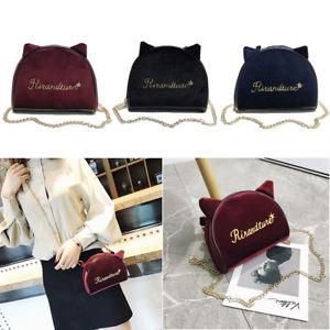 【送料無料】ファッションレディースハンドバッグチェーンショルダーハンドルバッグfashion women ladies handbag cat ear letter embroidery chain handle shoulder bag
