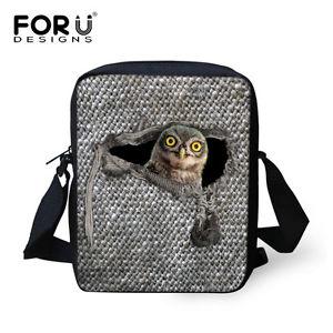 【送料無料】レディースファッションフクロウクロスボディメッセンジャーバッググレーハンドバッグwomens fashion owlcat cross body messenger bag grey small shouler purse handbag