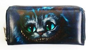 【送料無料】猫 ネコ キャット バッグ 小物 アリスワンダーランドチェシャークラッチバッグウォレットalice in wonderland cheshire cat clutch handbag purse wallet