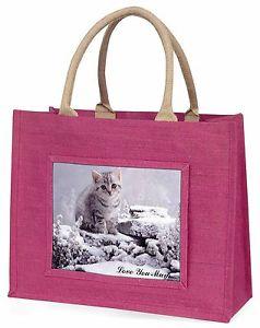 【送料無料】シルバー#;#ピンクショッピングバッグクリスマスプレsilver kitten 039;love you mum039; large pink shopping bag christmas pres, ac70lymblp