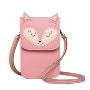 【送料無料】ピンクカラージッパーポケットスタイリッシュデザインショルダーバッグ