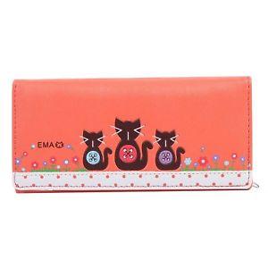 【送料無料】猫 ネコ キャット バッグ 小物 エンボスクラッチウォレットオレンジdamara womens cute cat embossed multilayer clutch wallet,orange