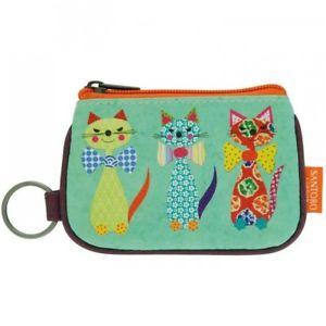 【送料無料】猫 ネコ キャット バッグ 小物 キーリングジップsantoro039;s cats with bowties keyring zip purse