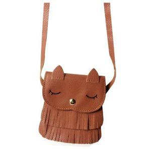 【送料無料】レザータッセルメッセンジャーバッグキッズ10xpu leather tassel small cat shoulder messenger bag purses for kids girl q7s8