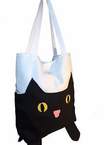 【送料無料】ハンドメイドバッグキャンバスレディースホリデーショッピングハンドバッグファッショントートhandmade cat tote bag canvas ladies holiday shopping handbag shopper fashion