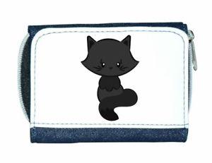 【送料無料】猫 ネコ キャット バッグ 小物 レディースcat 2 plain cute statement ladies purse blue