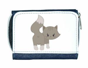 【送料無料】猫 ネコ キャット バッグ 小物 レディースcat 5 plain cute statement ladies purse blue