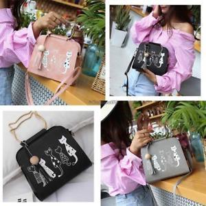 【送料無料】プリントトートハンドバッグショルダーバッグwomen cats print tophandle tote handbag shoulder bag c5