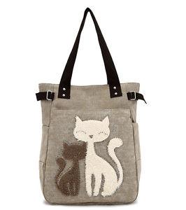 【送料無料】ホット#ショッピングショルダーバッグハンドバッグキャンバスバッグhot women039;s handbag canvas bag with cute cat small shopping shoulder bag