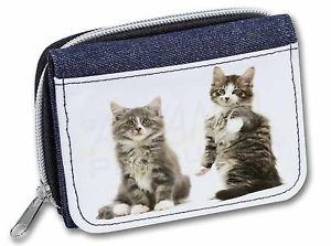 【送料無料】猫 ネコ キャット バッグ 小物 レディースデニムクリスマスtabby cats girlsladies denim purse wallet christmas gift idea