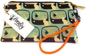 【送料無料】タバコオーストラリアアブポーチバッグハンドメイド cat tobacco pouch bag wristlet purse handmade in australia horsefly