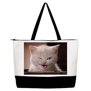 【送料無料】ハンドバッグトートショッパーショルダーバッグha ha cat handbag purse tote shopper shoulder bag