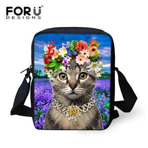 【送料無料】メッセンジャークロスボディハンドバッグバッグショルダーバッグadorable tabby cat messenger cross body handbag hobo bag shoulder bag purse