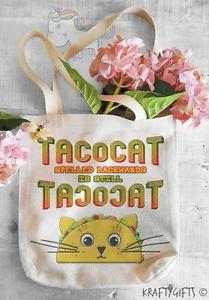 【送料無料】タコユーモアホッピングトートハンドバッグtaco cat kitten cute humour hopping grocery reusable tote hand bag tb02