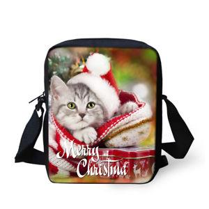 【送料無料】クリスマスメッセンジャーバッグ##キッズトートバッグミニポーチバッグchristmas dog cat messenger bags women039;s men039;s kids tote purse mini pouch bags