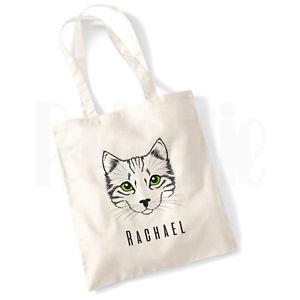 【送料無料】パーソナライズ#キャンバストートバッグペットpersonalised 039;cats eyes039; cat canvas tote bag gift for pet cat owner