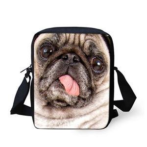 【送料無料】アニマルプリントカジュアルミニメッセンジャーバッグスリングバッグトラベルクロスボディバッグdog animal print casual mini messenger bag sling purse travel cross body hand