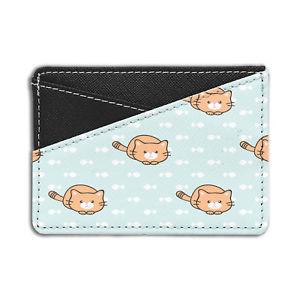 【送料無料】猫 ネコ キャット バッグ 小物 パターンクレジットカードホルダーウォレットcute cat pattern credit card holder wallet s5214