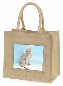 【送料無料】デボンレックスネコツナソクリスマスac174blndevon rex kitten cat large natural jute shopping bag christmas gift i, ac174bln