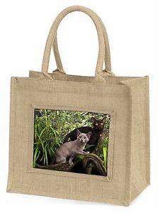 【送料無料】ビルマジュートショッピングバッグクリスマスtwo burmese cats large natural jute shopping bag christmas gift, ac33bln