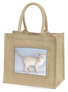 【送料無料】ジュートショッピングバッグクリスマスtonkinese cat large natural jute shopping bag christmas gift idea, ac114bln