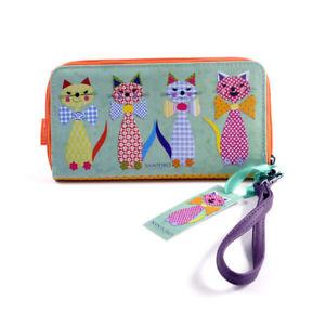 【送料無料】猫 ネコ キャット バッグ 小物 ネクタイ zipcats with bowties large zip wallet