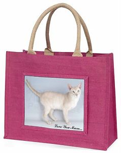 【送料無料】#ピンクショッピングバッグクリスマスtonkinese cat 039;love you mum039; large pink shopping bag christmas pre, ac114lymblp