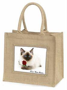 【送料無料】ラッグドルネコローズツナソcac159rlymblnragdoll catrose love you mum large natural jute shopping bag c, ac159rlymbln