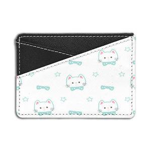 【送料無料】猫 ネコ キャット バッグ 小物 パターンクレジットカードホルダーウォレットcats pattern credit card holder wallet s3054