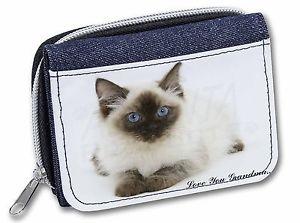 【送料無料】猫 ネコ キャット バッグ 小物 ラグドール##レディースデニムragdoll kitten 039;love you grandma039; girlsladies denim purse wallet c, ac159lygjw
