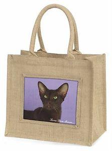 【送料無料】ハバナジュートショッピングバッグクリスマスhavana cat love you mum large natural jute shopping bag christmas, ac97lymbln