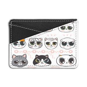 【送料無料】猫 ネコ キャット バッグ 小物 パターンクレジットカードホルダーウォレットcute cat pattern credit card holder wallet s5216