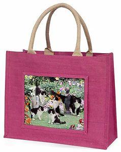 【送料無料】ネコピンククリスマスプレゼントac65blpcats and kittens in garden large pink shopping bag christmas present i, ac65blp