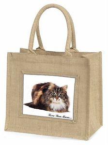 【送料無料】#;#ジュートショッピングバッグキリストbeautiful cat 039;love you mum039; large natural jute shopping bag christ, ac67lymbln