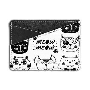 47667c97abca pattern cat パターンクレジットカードホルダーウォレットcute 小物 バッグ キャット ネコ 【送料無料】猫 credit s5217  wallet holder card-アクセサリーポーチ