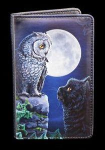 【送料無料】猫 ネコ キャット バッグ 小物 レディースフクロウウォレットladies wallet with cat and owl purrfect wisdom wallet purse