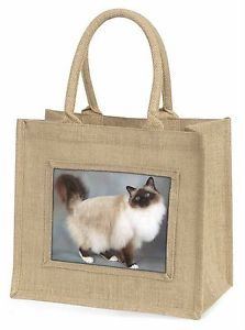 【送料無料】birmanツナソクリスマスキタノウグイac30blngorgeous birman cat large natural jute shopping bag christmas gift ide, ac30bln