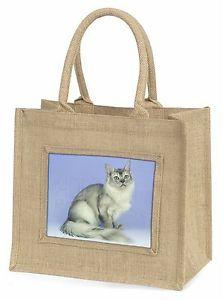 484f75a6f2d1 【送料無料】シルバーコートジュートショッピングバッグクリスマスsilver coat tiffanie cat large natural