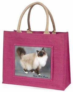 【送料無料】#ピンクショッピングバッグクリスマスプレゼントbirman cat 039;love you mum039; large pink shopping bag christmas present, ac30lymblp
