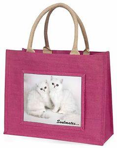 【送料無料】エキゾチックピンクジュートショッピングバッグアニマルtwo exotic cats soulmates large pink jute shopping bag animal gift, soul7blp