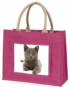 【送料無料】ネコピンククリスマスプレゼントキタノウグイac186blpbritish blue kitten cat large pink shopping bag christmas present ide, ac186blp