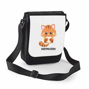 【送料無料】ショルダーバッグcat 2 stay pawsitive cute statement shoulder bag small